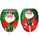 Xmas Christmas Decorations Santa Claus Toilet Seat Cover Rug Bathroom Soft Cloth