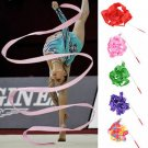 Pratical 4M Gym Rhythmic Art Gymnastic Ballet Streamer Twirling Rod Dance Ribbon