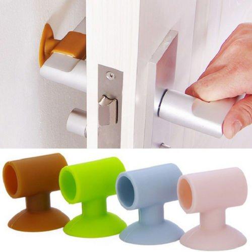 Cute Emoji Emoticon Self Adhesive Door Handle Bumper Guard Rubber Buffer Cushion
