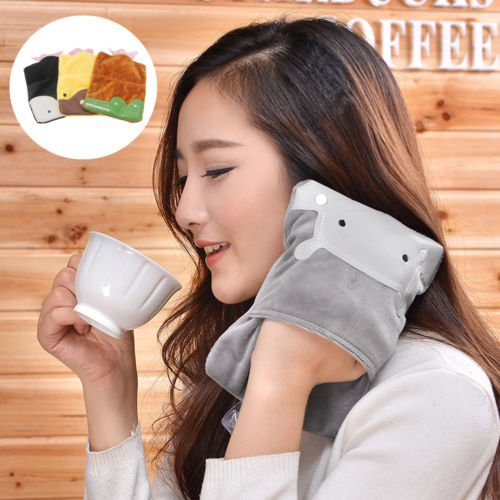 Cute Plush Cartoon Portable Hot Water Bottle Bag Warm Relaxing Heat Cold Therapy