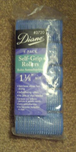 BRAND NEW Diane 1 1/8 inch self grip velcro rollers, 5 pack