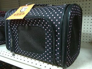EASY RIDER's CHARLIE Sport Collection Pet Dog Cat Carrier TOTE M Black-Pink NWT