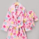"DOLLIE and ME AMERICAN DOLL FLEECE ROBE OVER COAT PINKS FOR 18"" DOLL GARMENT NEW"