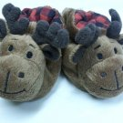 NEWBORN DEER SNUGGIE WARM BOOTIES SOCKS, BROWN SHOES has RATTLES NWT