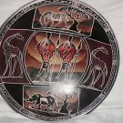 "HUGE 12"" MASTER PIECE KISII AFRICAN SOAPSTONE BOWL DECORATIVE PLATE HANDMADE NEW"
