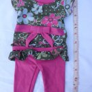 1PCs Doll Clothes Pink Pants & Top Outfit for 18'' Dollie & Me New