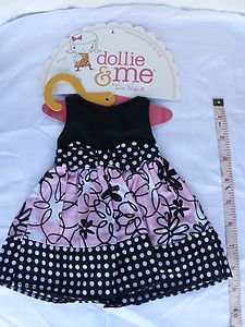 1PCs Doll  Clothes Summer dress outfit for 18'' Dollie & Me Black/Pink New