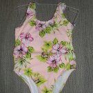 CUTE 1 pc TODDLER SWIMSUIT size 2T PEACH FLOWERS NWT