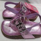 CARTER'S LILAC/PINK GIRLS VIDA SANDALS METALLIC SIZE 12 NEW w/ELASTIC HEEL BAND