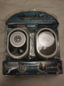 GIFT WHITE IWAVE MEGABASS SPEAKER SYSTEM STEREO IPOD PC/MAC LAPTOP MP3 PLAYER
