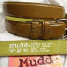 "MUDD LADIES WOMEN'S LEATHER BELT M/BROWN S/M LENGTH 38"" NWT"
