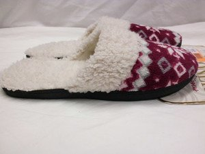 CUTE ISOTONER WARM SLIPPERS COMFY CRANBERRY 7.5-8 WOMEN'S HSE NON-SLIP SHOES NEW