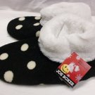 JOE BOXER FLEECE WARM SLIPPERS COMFY BLACK 4-10 WOMEN'S NON-SLIP HSE SHOES NEW