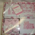 GIFT Pink Babies' Alley 4 Pc Infant Baby Shower Gift Set - 0-6 Mo's NEW! V.Nice!