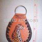 Tribal African Ethnic Key Ring Holder Leather Maasai Worrior Rhino Zebra Elphant