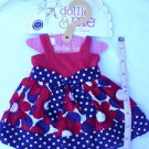 "CUTE DOLLIE and ME / AMERICAN GIRL DOLL DRESS OUTFIT fits ANY 18"" DOLL GARMENT A"