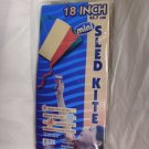 Sled Kite Outdoor Sports EZ & Fun Fly For Kids 18 inches 4+yrs Cord & Winder New