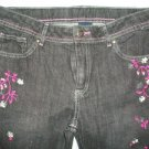 Faded Glory Skinny Boot Cut Leg Girls Jeans Size 14 Floral Patterns NEW!