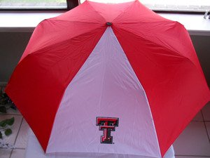 Collegiate Licensed Texas Tech Umbrella w/Key Holder NEW!