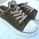 KIDS US SPORTS UNISEX RETRO LOOK DENIM SHOES SZ 9 BROWN REALLY CUTE