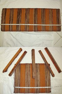 IMPORTED AFRICAN Authentic HANDWOVEN TABLE RUNNER WITH 6 Placement Mats NEW