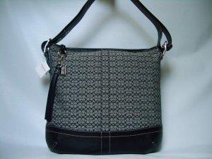 Authentic Coach Mini Signature Medium Soft Dufle Handbag