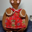 Handcrafted Gingerbread fabric doll