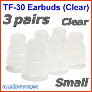 Small Triple Flange Ear Buds Tips Pads for Ultimate Ears UE In Ear Earphones TripleFi 10 10vi @Clear