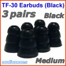 Medium Replacement Triple Flange Ear Buds Tips Cushion for Monster In-Ear Earphones Headphone @Black