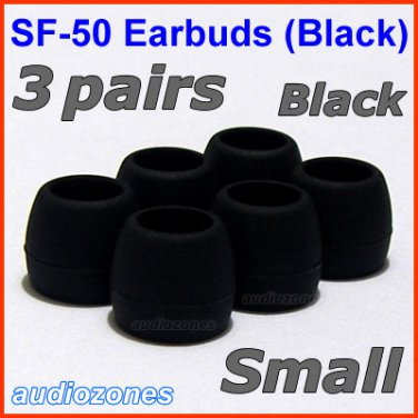 Small Replacement Ear Buds Tips Cushions for Creative HS-660i2 MA200 MA330 EP-3NC HS-730i @Black