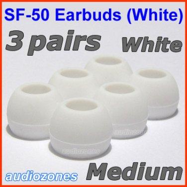 Medium Replacement Ear Buds Tips Cushions for Sennheiser CX 150 250 350 55 380 550 95 475 485 @White