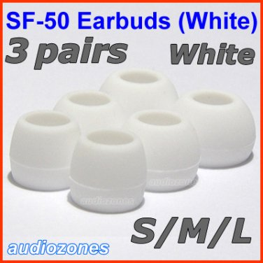 Replacement Ear Buds Tips Cushion for Sennheiser IE 6 7 8 8i 60 80 IE6 IE7 IE8 IE8i IE60 IE80 @White