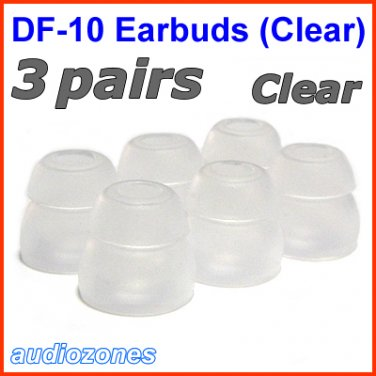 Replacement Double Flange Ear Buds Tips Pads Cushions for Philips In-Ear Earphones Headphones @Clear