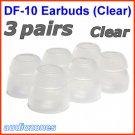 Replacement Double Flange Ear Buds Tips Cushions for Beyerdynamic In-Ear Earphones Headphones @Clear