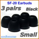 Small Ear Buds Tips Pads Cushions for Sony XBA-10 10iP XBA-20 20iP XBA-30 30iP XBA-40 40iP @Black