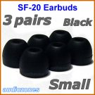 Small Replacement Ear Buds Tips Pads Cushions for Sony XBA-NC85 XBA-BT75 XBA-S65 Headphones @Black