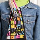 Handmade Disney Tinker Bell Refashioned T-Shirt Scarf, Pink, Black, Green