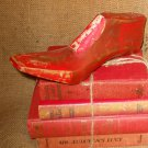 Red Shoe Form Cobbler Last Old Shoemaker Tool Photo Prop Home Decor Christmas