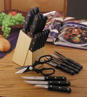 21pc Cutlery and Wood Block