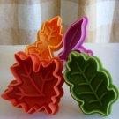 Cookie Cutter Stamp Mold 4pcs DIFFERENT SHAPE LEAVES Series Pie Crust Cutter Set