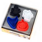 Cookie Cutter Stamp Mold 4pcs HALLOWEEN STYLE Series Pie Crust Cutter Set