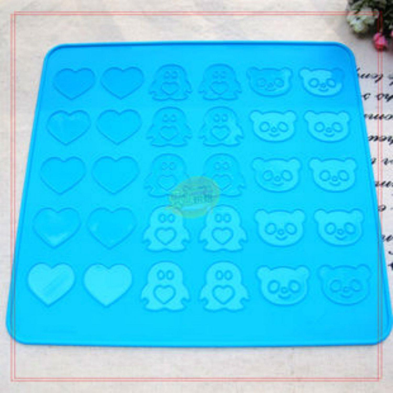 Macaroon Silicone Animal & Heart Shape Baking Mat Pastry Sheet Easy Use Utensil