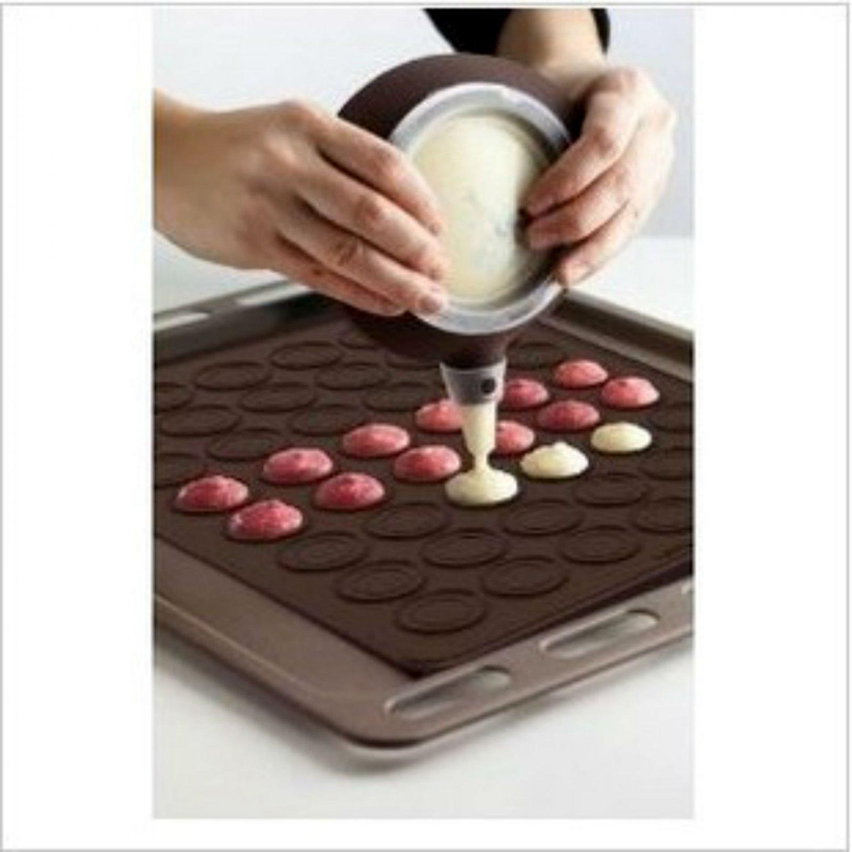 Macaroon Silicone 29x26 cm Baking Mat + Decoration Pen Set Bakery Easy Use Utensil