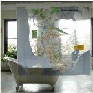 183 x 183 cm NEW YORK TRAIN MAP Design PEVA Plastic Shower Curtain Bathroom Use