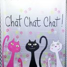 3 CAT DESIGN Waterproof Shower Curtain Set 180 x 200 cm Chat Chat Chat Design