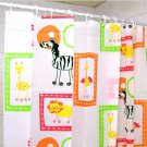 ANIMAL ZOO Design Cute Adorable PEVA 180x180cm Bathroom Shower Curtain