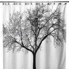 BLACK TREE Fabric PEVA 180x180cm Bathroom Shower Use SHOWER CURTAIN with HOOK