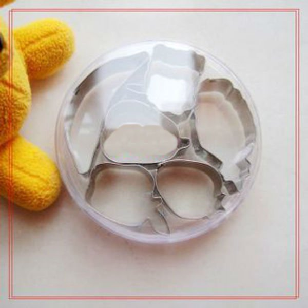 FRUIT Assorted SHAPE Multiple Use Stainless Steel 6 Different Shape Cookie Cutter Mold