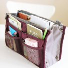 WINE RED Large Liner Organizer Bag Dual Zipper Purse Nice to Insert Inside BAGS