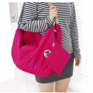 HOT PINK COLOR 3 Way Multiple Use Fold-able Travel Bag Good for Travel Daily Use